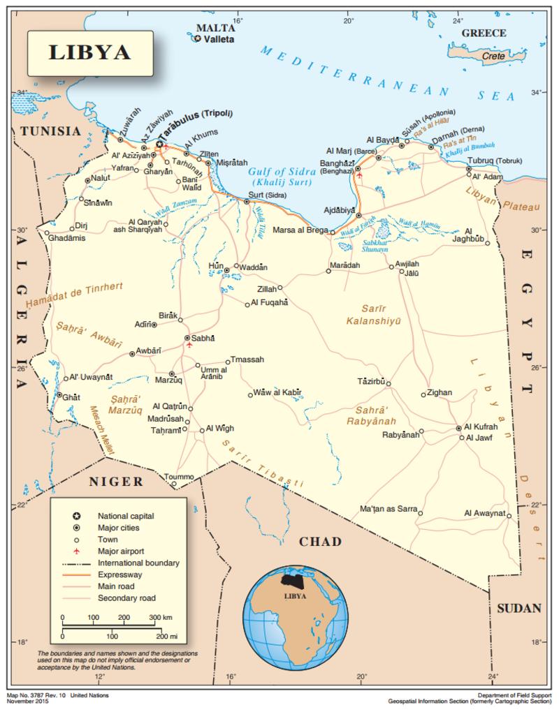 Map of Libya UNSMIL