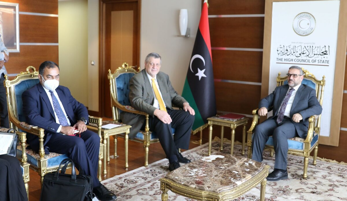 اللقاء مع السيد رئيس المجلس الأعلى للدولة