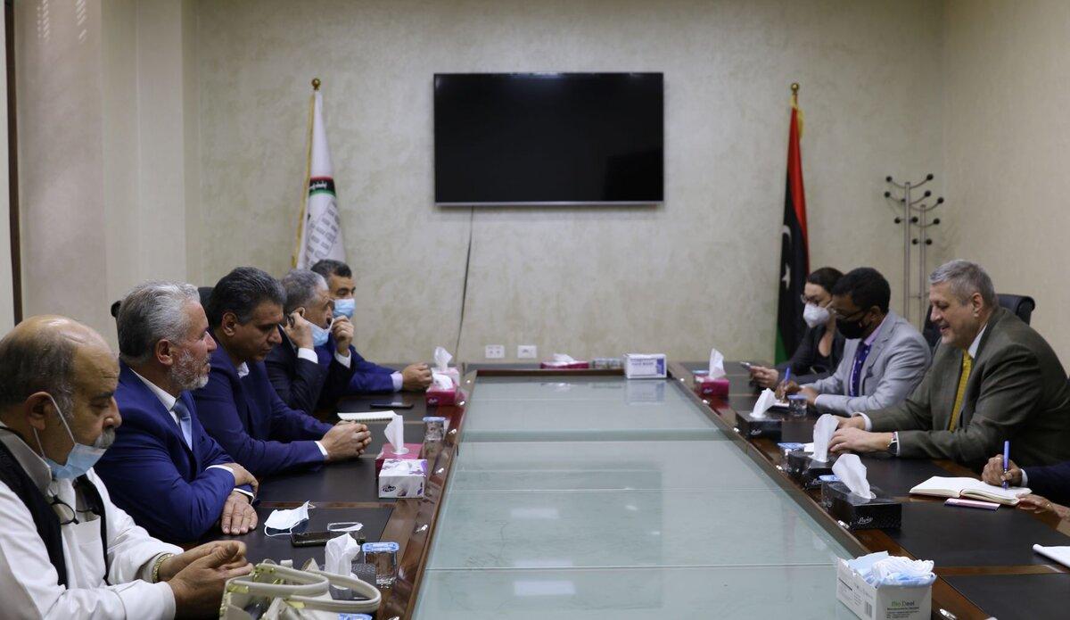 اللقاء مع أعضاء مجلس النواب والمجلس الأعلى للدولة في مصراتة