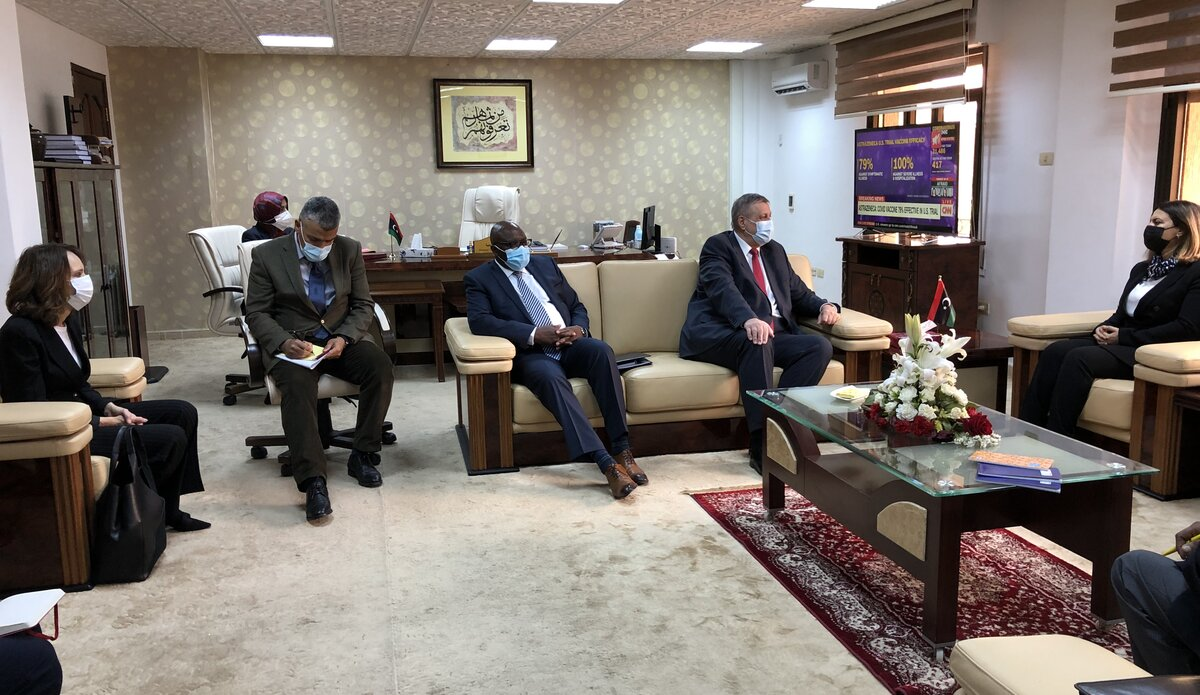 FM Ms. Almangoush meets with the Special Envoy and UNSMIL leadership