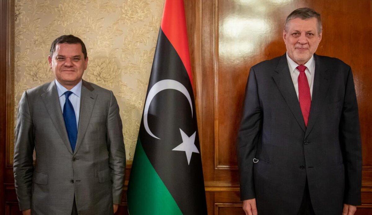 Prime Minister Dabaiba receives the Special Envoy Kubis