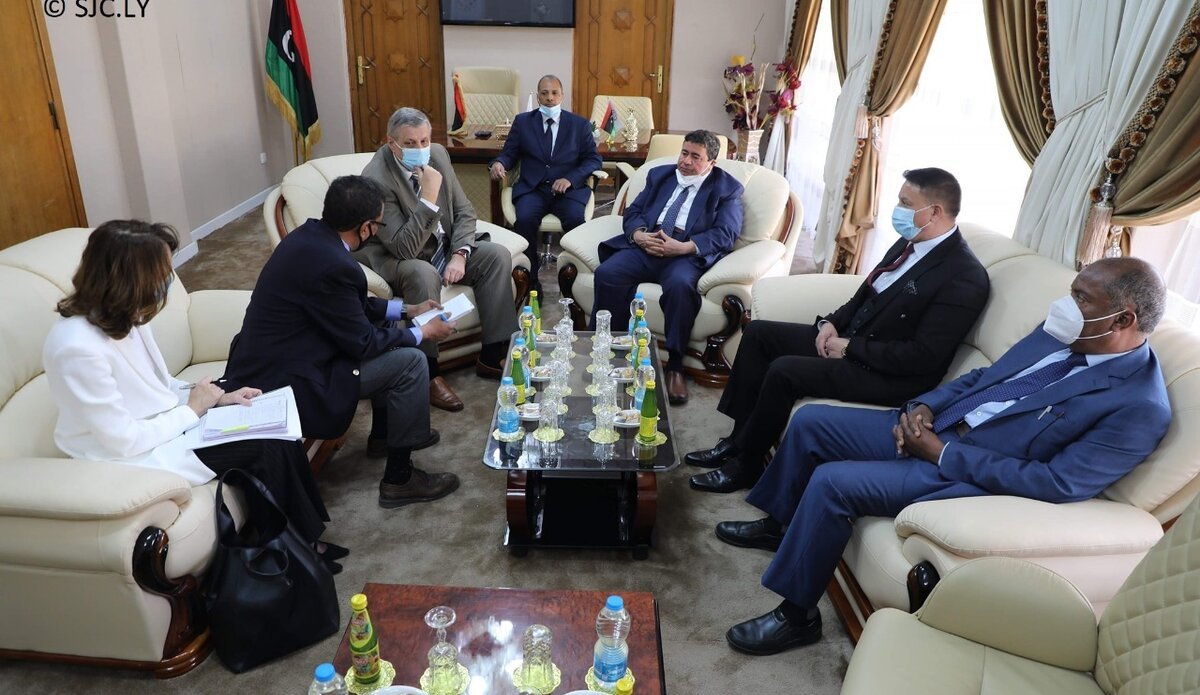 SE Kubis meeting with Judge Mohamed Al-Qamoudi Alhafi, Head of the Supreme Judicial Council - 29 March 2021