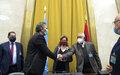 كلمة الممثلة الخاصة للأمين العام للأمم المتحدة في ليبيا بالإنابة، ستيفاني وليامز، عقب مراسيم توقيع اتفاق وقف إطلاق النار بين الفرقاء الليبيين