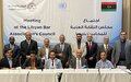 بعثة الأمم المتحدة للدعم في ليبيا تُيسِرُ اجتماعاً لنقابة المحامين الليبيين لاعتماد أول مدونة لقواعد السلوك المهني