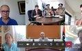 بعثة الأمم المتحدة للدعم في ليبيا ووزارة الداخلية في حكومة الوفاق الوطني يبحثان اصلاح قطاع الامن، ونزع السلاح والتسريح وإعادة الادماج