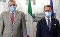 المبعوث الخاص إلى ليبيا، يان كوبيش، يناقش التطورات السياسية والأمنية وتنفيذ قراري مجلس الأمن 2570/2571 لعام 2021 والهجرة مع مسؤولين إيطاليين في روما