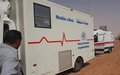WHO delivers a mobile clinic to Sabha city to respond to urgent health needs