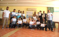 Sixteen Libyans successfully completed a two-week long mine risk awareness session in Zarsis, Tunisi